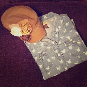 Accessories - Brown Army Hat with flowers 🌸